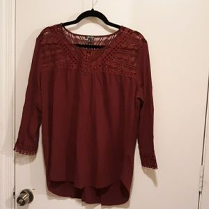 Hannah mauroon 3/4 sleeve top